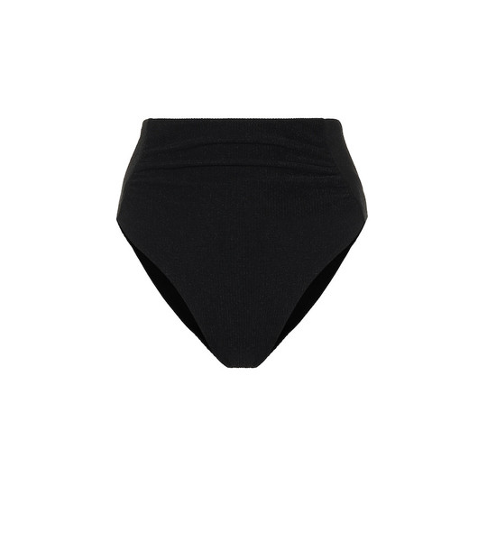 Self-Portrait High-rise bikini bottoms in black
