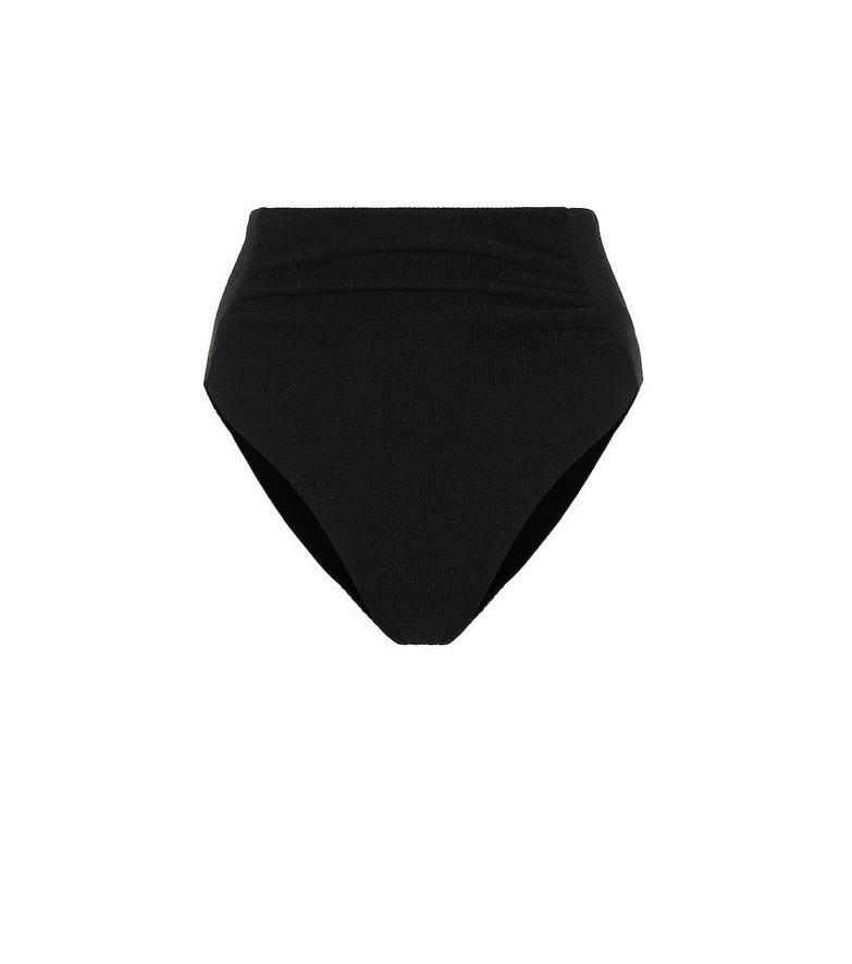 Self-Portrait High-rise bikini bottoms in black