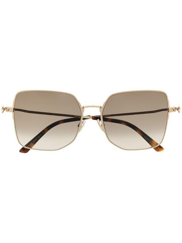 Jimmy Choo Eyewear Trisha oversized square sunglasses in brown