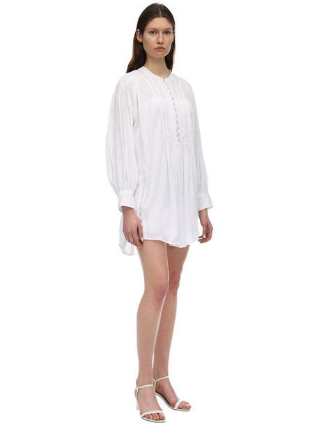 ISABEL MARANT Lacre Viscose Mini Dress in white