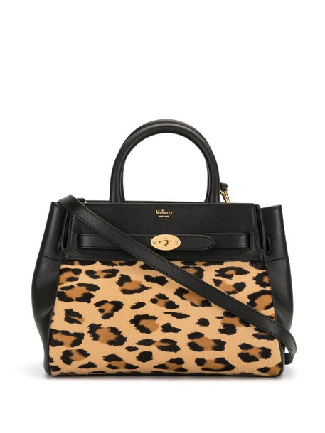 Mulberry Bayswater leopard-print tote in black