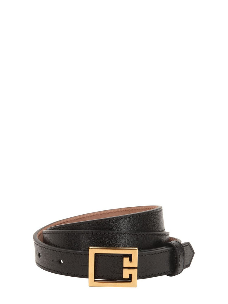 GIVENCHY 20mm Grained Leather Belt in black