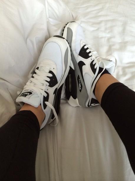 shoes black and white nike air max nike air max 90 nike free run trainers running sportswear athletic
