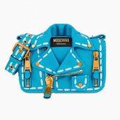 bag,blue bag,moschino