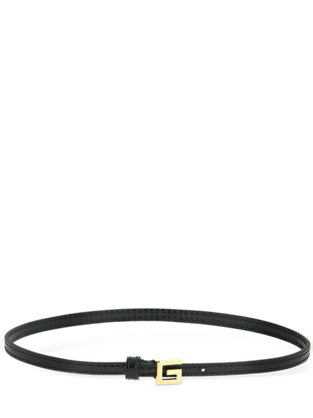 GUCCI Leather Choker W/ Square G Detail in black / gold