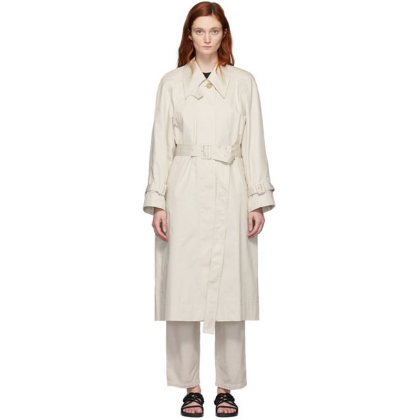 Low Classic Beige Armhole Stitch Trench Coat