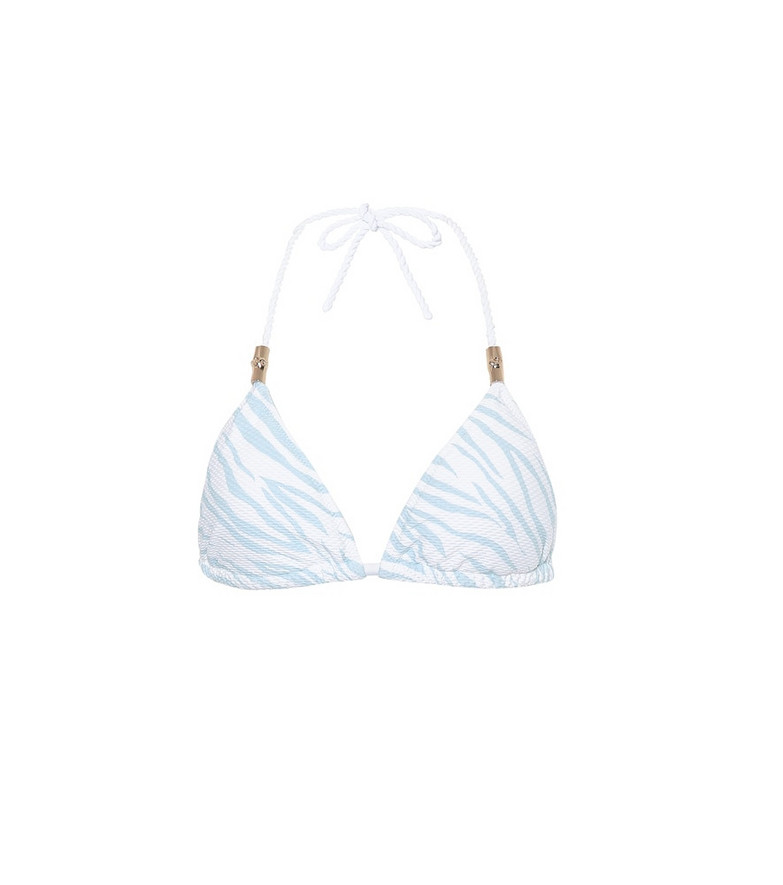 Heidi Klein Lake Nakuru triangle bikini top in blue