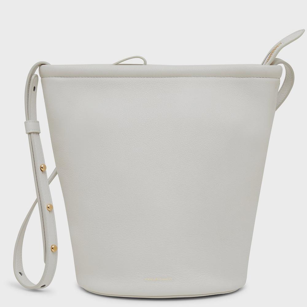 Mansur Gavriel Zip Bucket Bag - Snow