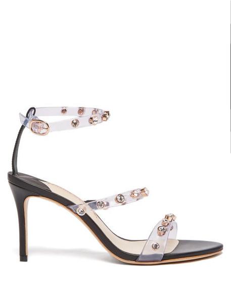 Sophia Webster - Rosalind Crystal Embellished Leather Sandals - Womens - Black