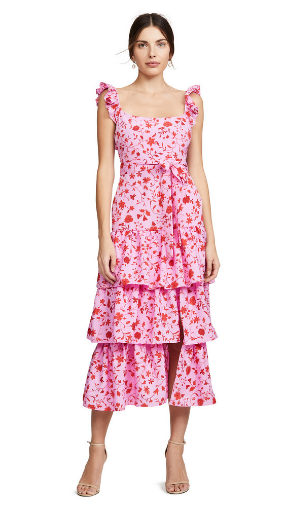 LIKELY Charlotte Dress in pink / red / multi