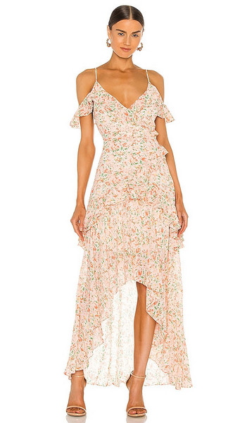 ASTR the Label Pemberly Dress in Pink in orange