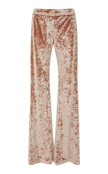 Alexis Domenic Velvet Flare Pants in pink