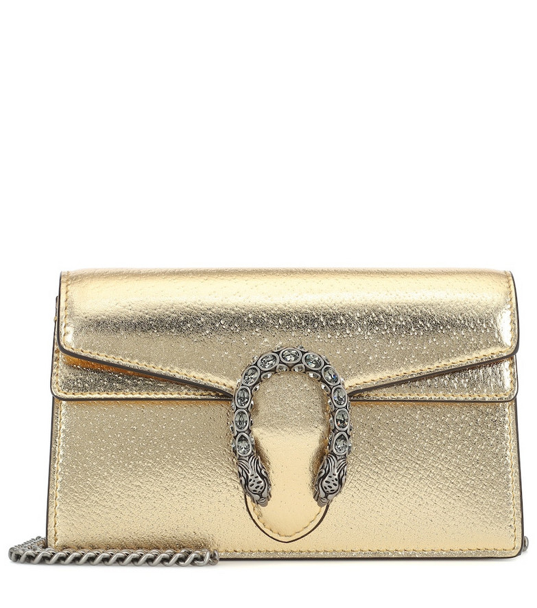 Gucci Dionysus Super Mini crossbody bag in gold