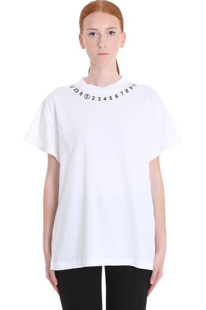 Maison Margiela T-shirt In White Cotton