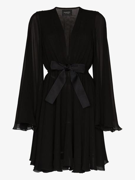 Giambattista Valli bow waist silk dress in black