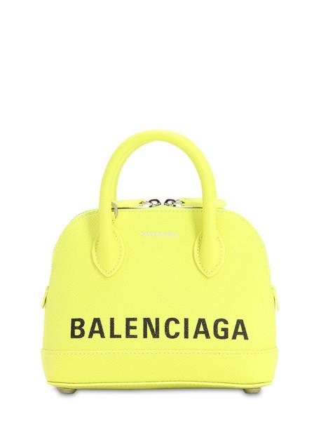 BALENCIAGA Xxs Ville Textured Leather Bag in green