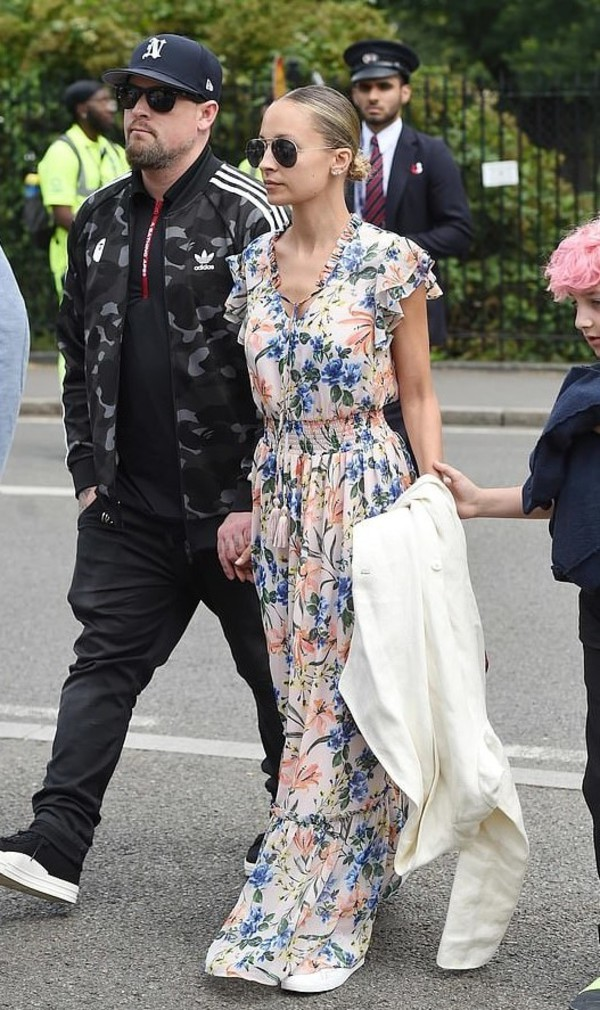 dress floral floral dress maxi dress nicole richie celebrity