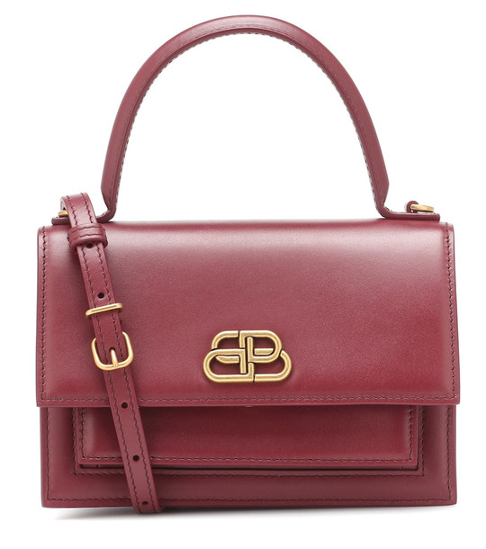 Balenciaga Sharp XS leather tote in red