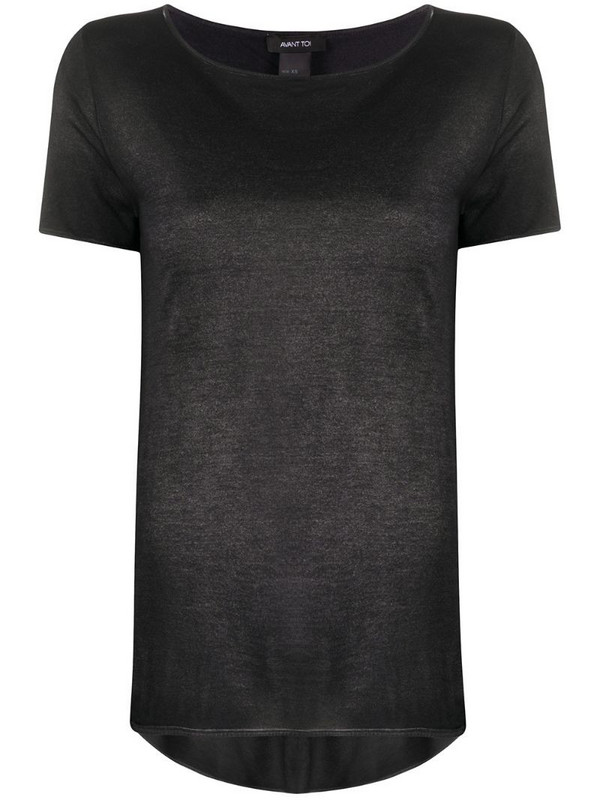 Avant Toi relaxed fit short sleeve T-shirt in black