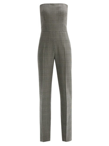 Pallas X Claire Thomson-jonville - Fatale Prince Of Wales Check Strapless Jumpsuit - Womens - Grey Multi