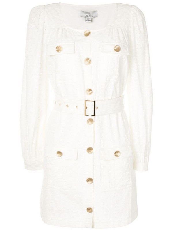 We Are Kindred Bronte utility mini dress in white