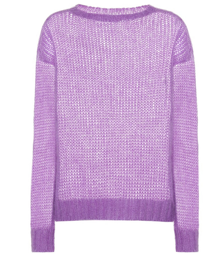 Prada Mohair-blend sweater in purple