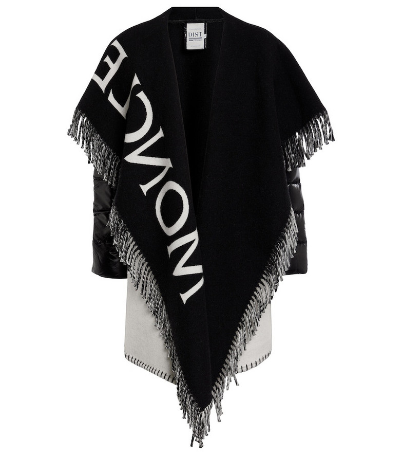 Moncler Wool-blend cape in black