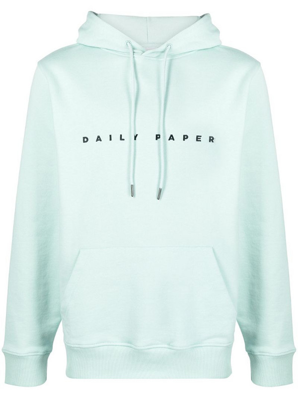 Daily Paper embroidered logo hoodie in blue