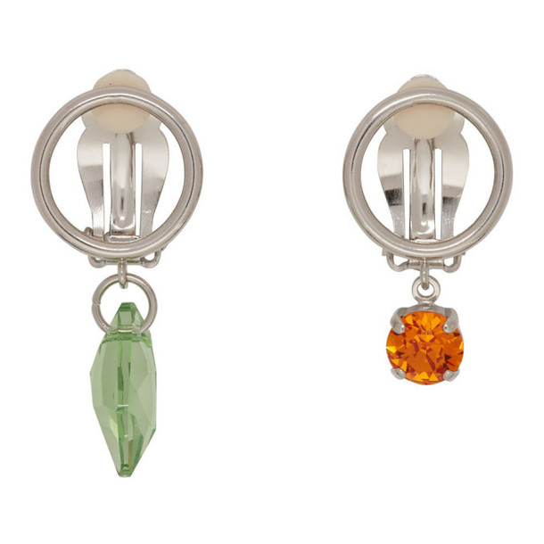 Justine Clenquet Silver Rei Clip-On Earrings