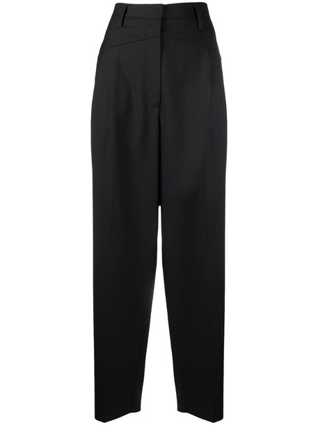 Remain pressed-crease tailored trousers in black