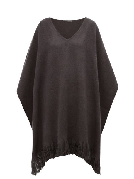 Denis Colomb - Fringed Cashmere Poncho - Womens - Grey