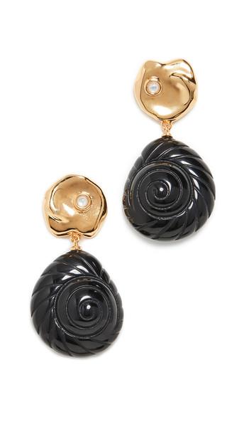 Lizzie Fortunato Venus Earrings in black