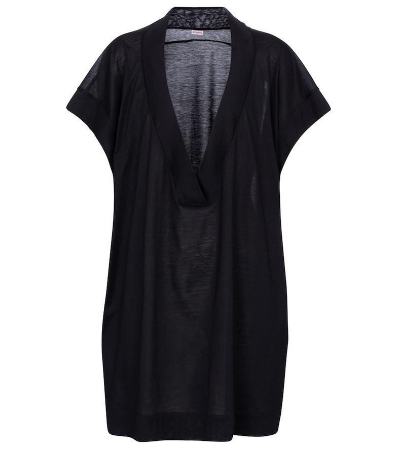 Eres Renée cotton jersey minidress in black