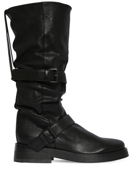 ANN DEMEULEMEESTER 40mm Leather Boots in black