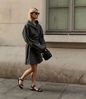 bag,black bag,black jacket,acne studios,flat sandals