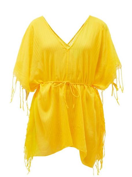 Su Paris - Kya Ribbed Cotton Tunic - Womens - Yellow