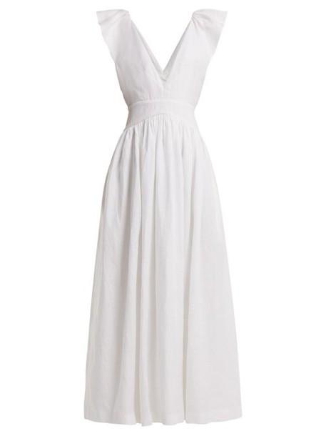 Kalita - Persephone Linen Maxi Dress - Womens - White
