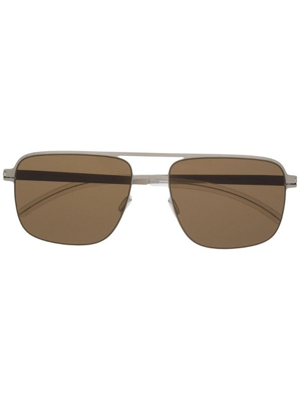 Mykita Wilder square-frame sunglasses in silver