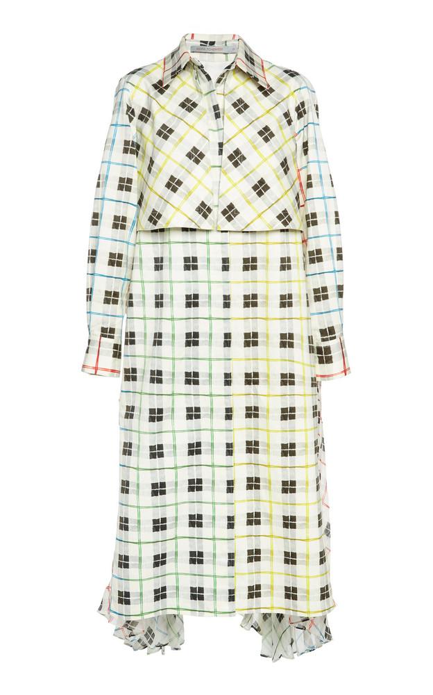 Silvia Tcherassi Birdie Cotton Trench Coat in multi