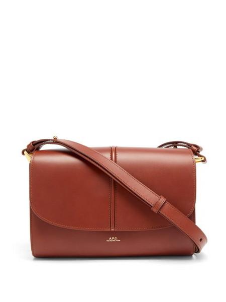 A.P.C. A.P.C. - Betty Horizon Smooth-leather Cross-body Bag - Womens - Tan