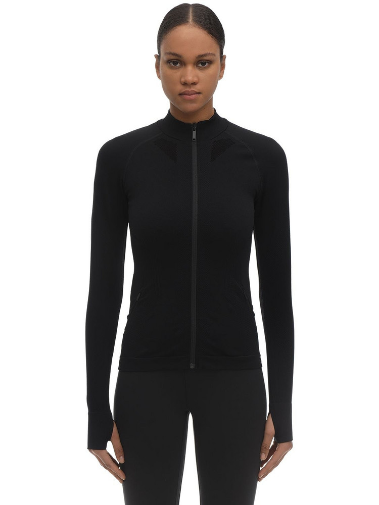 KARL LAGERFELD Rue St Guillaume L/s Stretch Jersey Top in black