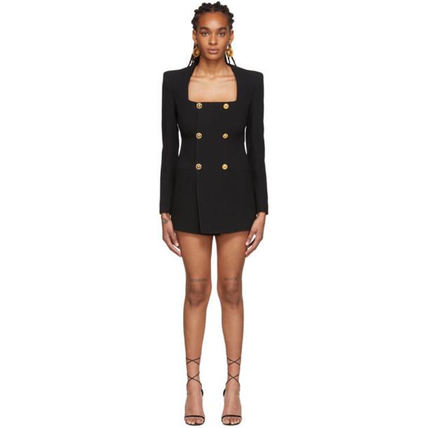 Versace Black Square Neck Dress