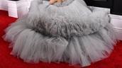 dress,grey,ariana grande dress