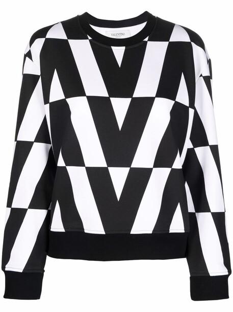 Valentino V logo-print sweatshirt - Black
