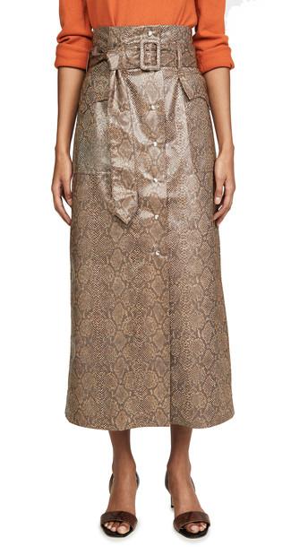 Nanushka Aarohi Skirt in brown