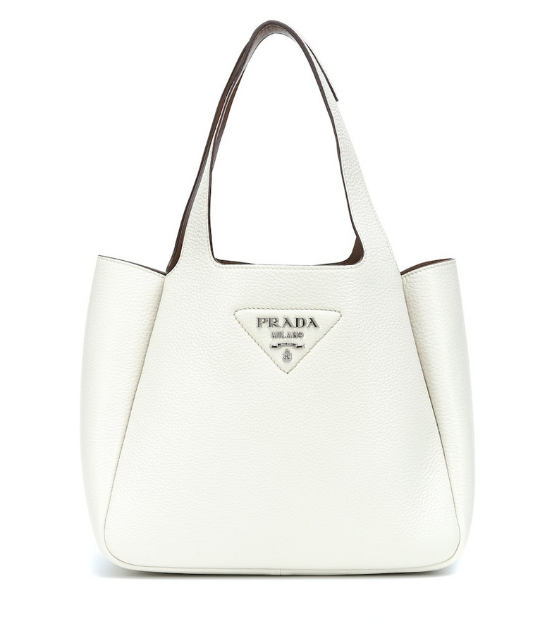 Prada New Family Small leather shoulder bag in white