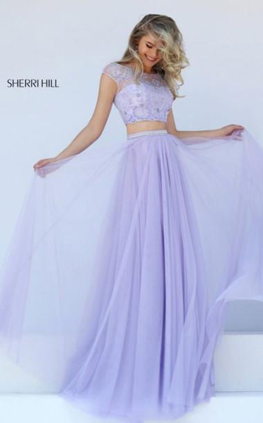 dress purple dress sherri hill 50038 prom dress