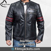 coat,comedy series,being human,celebrity,samuel witwer,leather jacket,jacket,fashion,outfit,style,menswear,men's outfit
