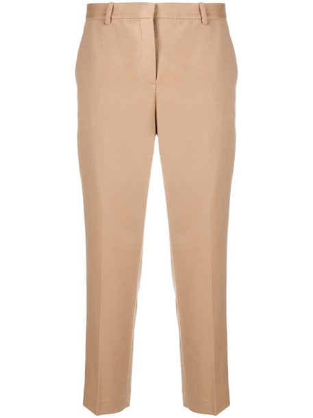 Theory cropped tapered trousers in neutrals