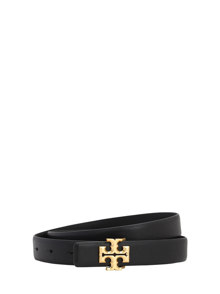 TORY BURCH 25mm Kira Leather Belt in black